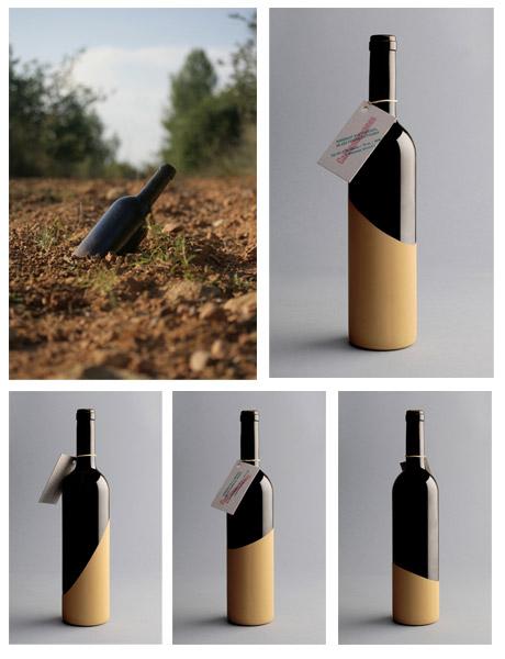 Grafous :: Diseño Gráfico Sostenible :: Botelas de Vino :: Cantamanyanes :: Enserio